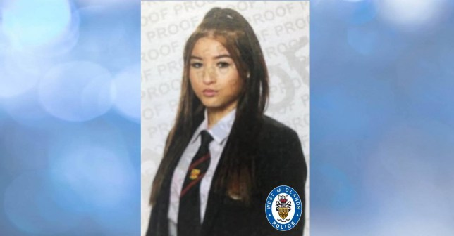Picture: West Midlands Police Police are searching for a missing 15-year-old girl who is believed to have vanished in the Sutton Coldfield area of Birmingham after boarding a train. West Midlands Police say Megan Simpson went missing on Thursday after boarding a train from Lichfield where she lives to its final destination of Bloxwich. She is believed to have got off the train in the Sutton Coldfield or Wylde Green areas of the city. Megan is described as white, 5ft 1in tall, with very long black hair and was last seen wearing a black shiny puffer jacket, black ripped jeans and black trainers. The force released an appeal on Facebook which said: