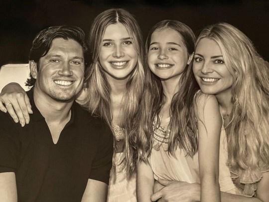 Vernon Kay, Tess Daly and family