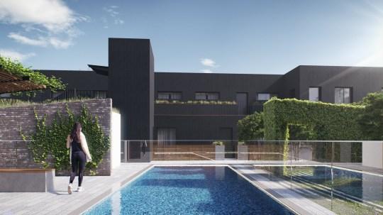 Coppice Yard - CGI Swimming Pool.