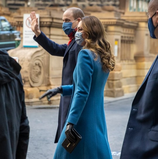 The Duke and Duchess of Cambridge wave to onlookers as they arrive by train at Edinburgh Waverley Station on the second day of a three-day tour across the country. PA Photo. Picture date: Monday December 7, 2020. During the tour William and Kate will visit communities, outstanding individuals and key workers to thank them for their efforts during the coronavirus pandemic. See PA story ROYAL Train. Photo credit should read: Andy Barr/PA Wire