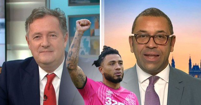 Heated GMB clash between James Cleverly and Piers Morgan on BLM protest Rex Features