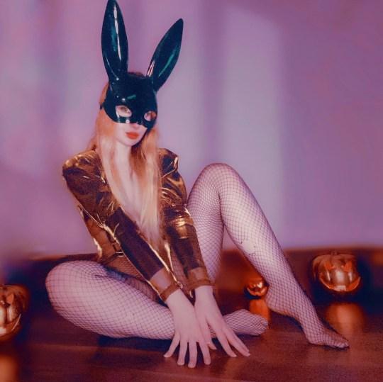 Mel dressed as bunny