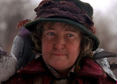 Brenda Fricker as the Pigeon Lady in Home Alone 2