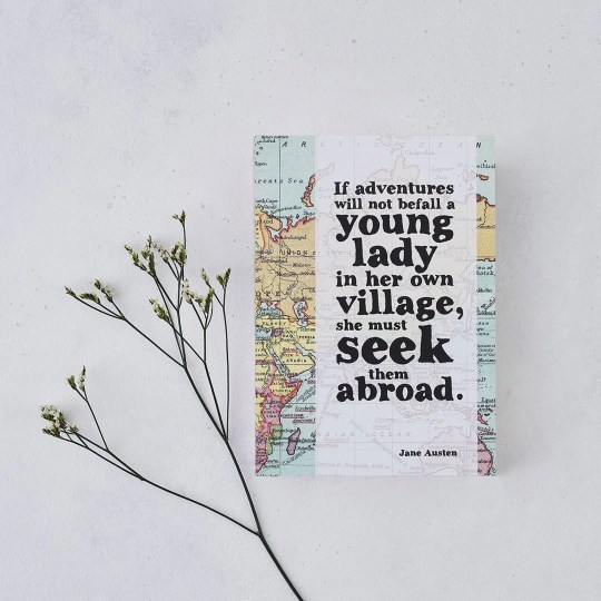 Travel Journal Jane Austen notonthehighstreet.com