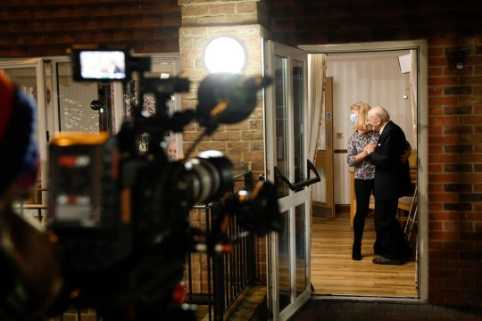 Jamie Cullum performs in a care home