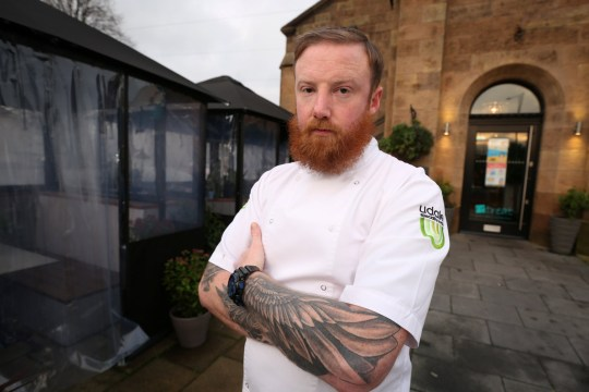 A restaurant chef who created a fish and chip pie