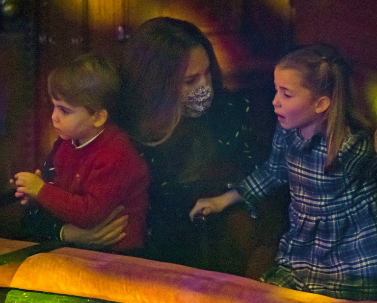 The Duchess of Cambridge Kate with Princess Charlotte and Prince Louis