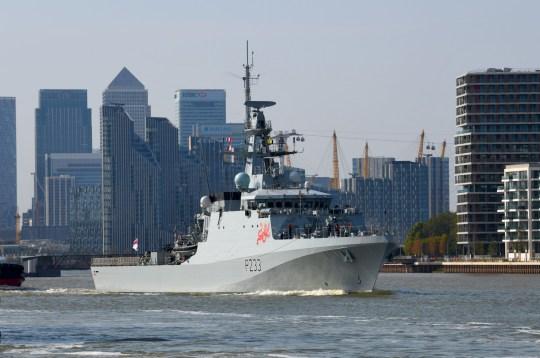 A Royal navy boat