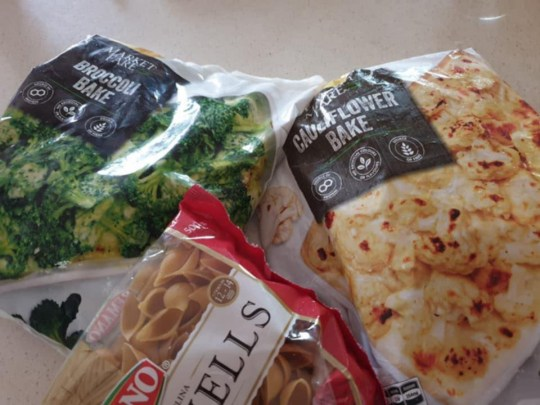 Items to make pasta bake