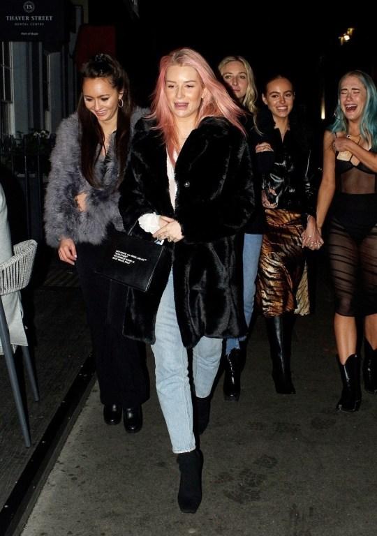 Lottie Moss with friends.