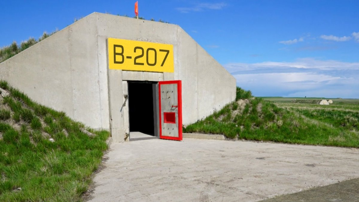 The entrance to a doomsday bunker