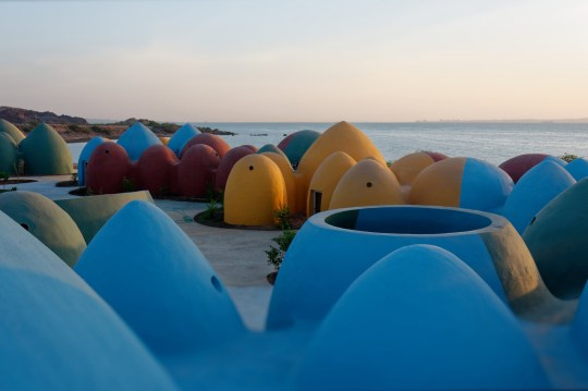 These vibrant domes present communal residing on tiny island of Hormuz