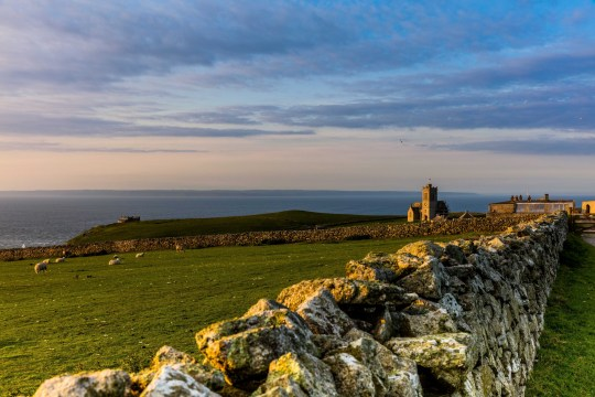 View of Lundy Island in the Bristol Channel