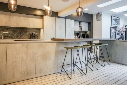kitchen of spanish style villa in Sheffield