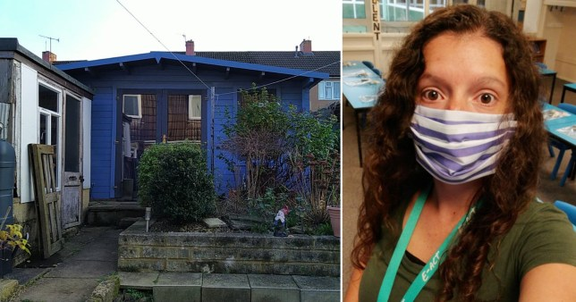 Emily Vazquez, who teaches a Year 5 class in Bristol, has been living in her garden shed for three months