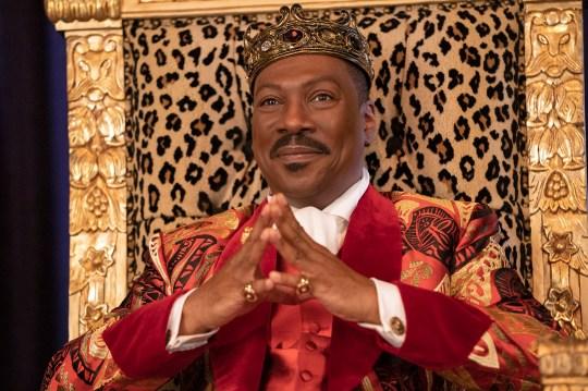 Eddie Murphy as King Akeem in Coming 2 America