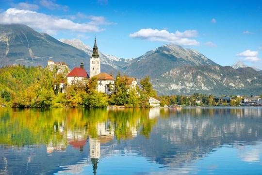 Autumn Lake Bled, Julian Alps, Slovenia