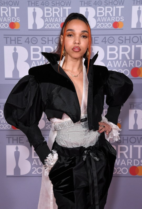 Mandatory Credit: Photo by Anthony Harvey/REX (10558797oe) FKA Twigs 40th Brit Awards, VIP Arrivals, The O2 Arena, London, UK - 18 Feb 2020