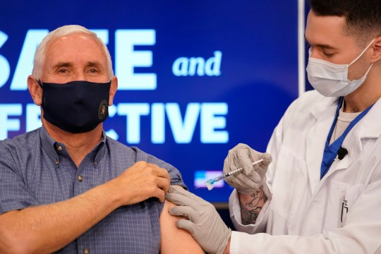 Mike Pence gets Pfizer Covid vaccine