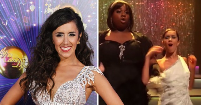 Strictly Come Dancing dancer Janette Manrara with Alex Newell on Glee