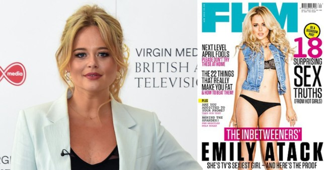 Emily Atack proud of glamour model past Pics: Getty/FHM