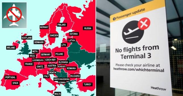 Plus de pays ont interdit les vols au départ du Royaume-Uni Getty / Metro.co.uk