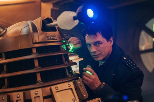 John Barrowman as Captain Jack Harkness in  in Doctor Who's Revolution of the Daleks
