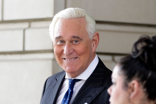 FILE - In this Friday, Nov. 15, 2019 file photo, Roger Stone exits federal court Washington. President Donald Trump on Wednesday, Dec. 23, 2020 issued pardons and sentence commutations for 29 people, including former campaign chairman Paul Manafort and Charles Kushner, the father of his son-in-law, in the latest burst of clemency in his final weeks at the White House. Also receiving a pardon is Roger Stone, another longtime Trump associate caught up in the probe of Russia and the Trump campaign. (AP Photo/Julio Cortez, File)