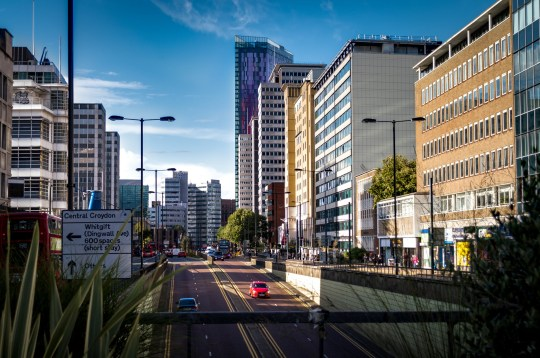 East Croydon, UK - September 14, 2017: Car underground road and tunnel on busy main street (A212 or Wellesley Rd) in the London borough of Croydon, England, United Kingdom; Shutterstock ID 718674403; Purchase Order: -