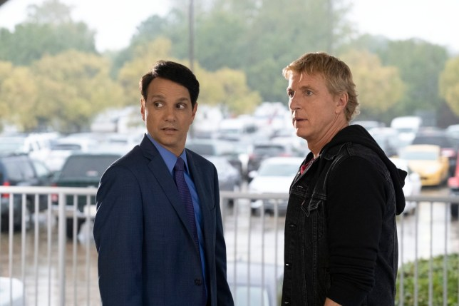 COBRA KAI (L to R) RALPH MACCHIO as DANIEL LARUSSO and WILLIAM ZABKA as JOHNNY LAWRENCE