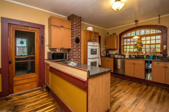 kitchen of vermont jailhouse cottage