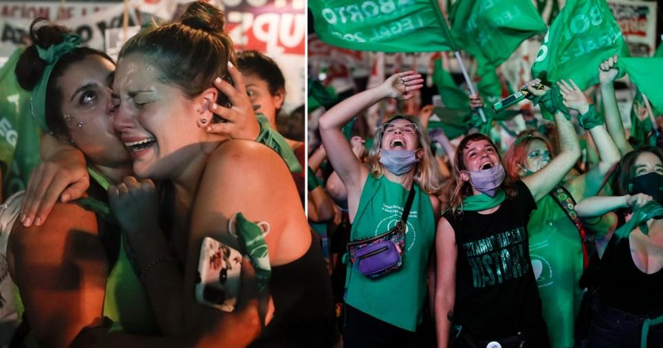 Projet de loi sur l'avortement adopté par l'Argentine.
