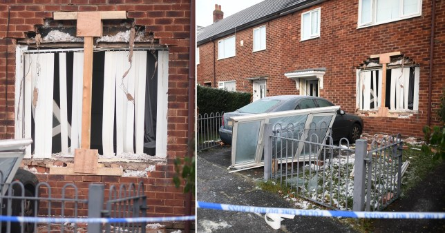 A man has been arrested on suspicion of attempted murder after a girl and a woman were taken to hospital following an explosion at a home.The girl, aged 11, and a woman, aged 32, were taken to hospital as a 'precaution' following the incident in Wythenshawe, a GMP spokesman said.Police were called to Pewsey Road today (Wednesday) at around 12.20am after the sound of a bang was heard by neighbours.CAPTION House explosion on Pewsey Rd , Wythenshawe , Manchester . 30 December 2020