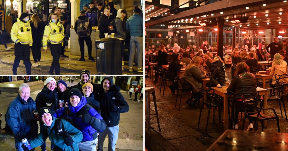 Composite image people in bars ahead of tier four restrictions
