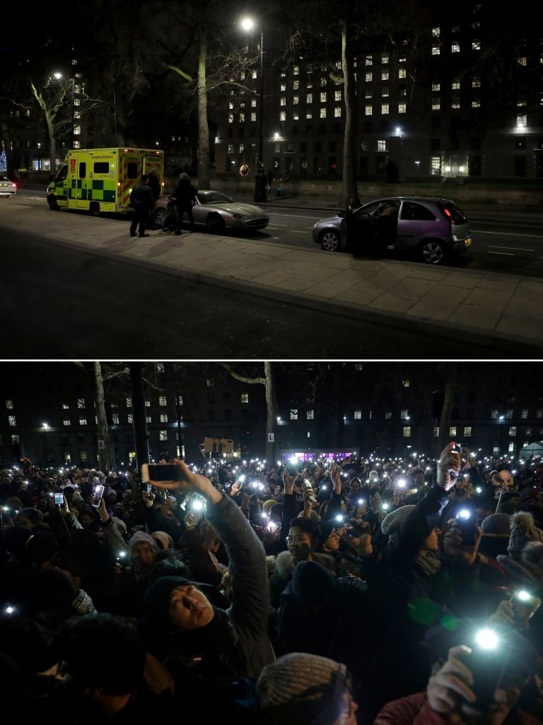 New Year's Eve in London in 2020 compared to 2019