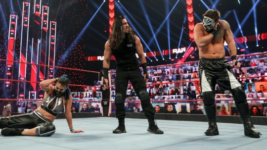 WWE and RETRIBUTION superstars Reckoning, Mustafa Ali and Slapjack
