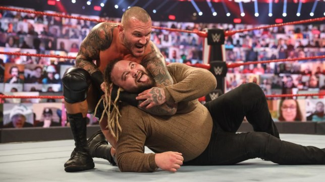 WWE superstars Randy Orton and Bray Wyatt on Raw