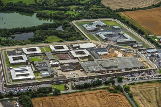 DURHAM, ENGLAND. AUGUST 06. Aerial view of HM Prison Frankland on August 6, 2008.