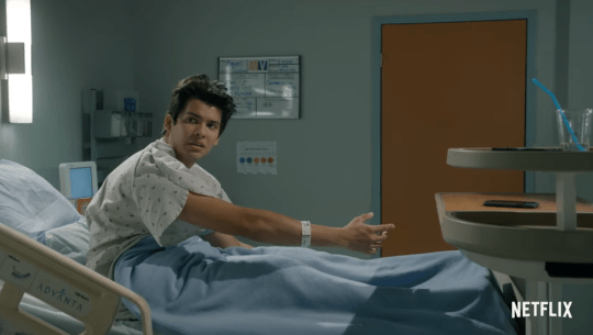 Miguel in hospital in teaser for season three of Cobra Kai