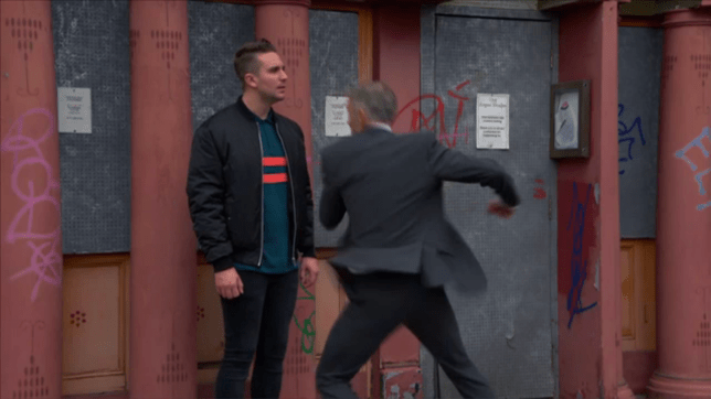Callum and Thompson in EastEnders