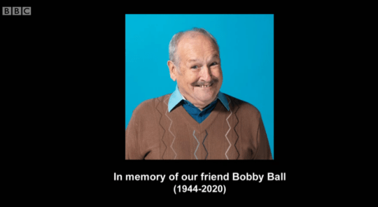 Bobby Ball tribute at the end of Not Going Out