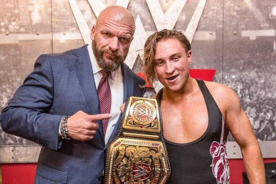 WWE legend Triple H with NXT superstar Pete Dunne
