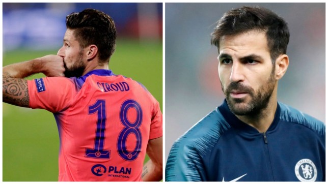 Cesc Fabregas has paid tribute to Olivier Giroud after his heroics for Chelsea