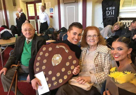 Former Strictly Come Dancing star AJ Pritchard and his grandparents