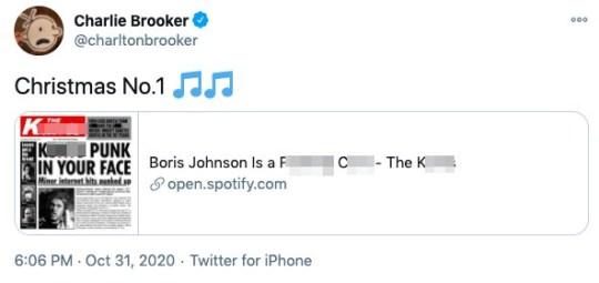 Charlie Brooker tweet