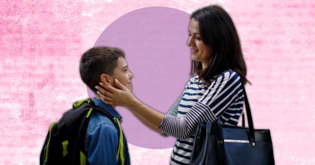 mum talking to her son