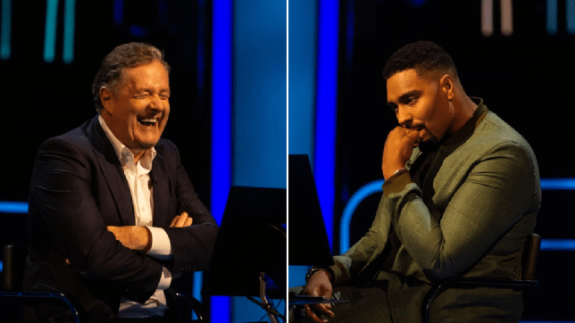Piers Morgan and Jordan Banjo
