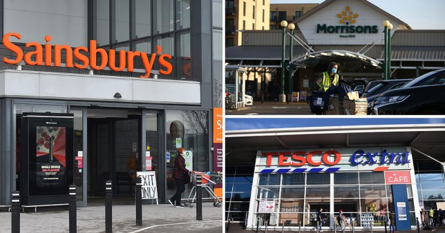 Sainsbury's, Tesco and Morrisons stores