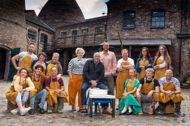 The Great Pottery Showdown presenters and potters