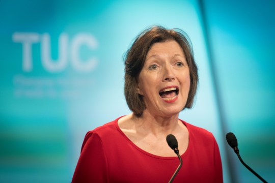 Frances O'Grady, General Secretary of the TUC, speaking at the TUC's Congress in London
